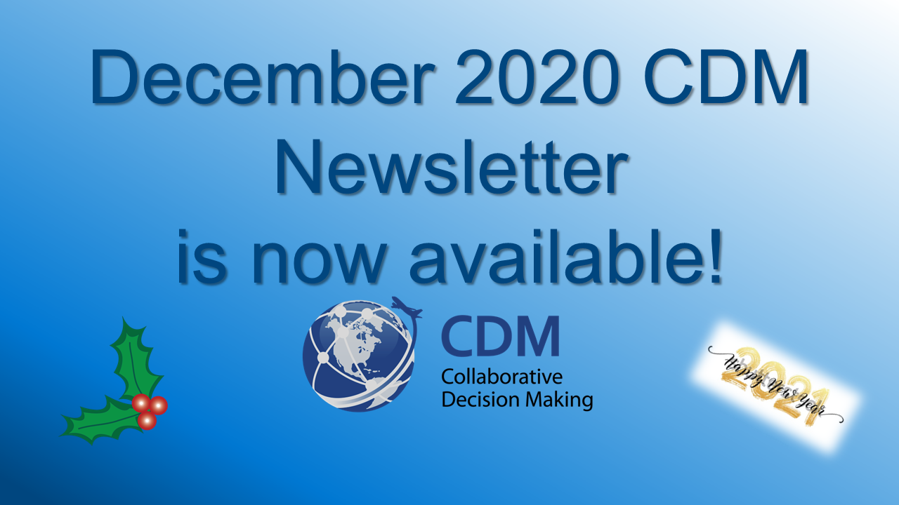 December 2020 CDM Newsletter