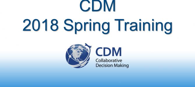 CDM Spring 2018 Training