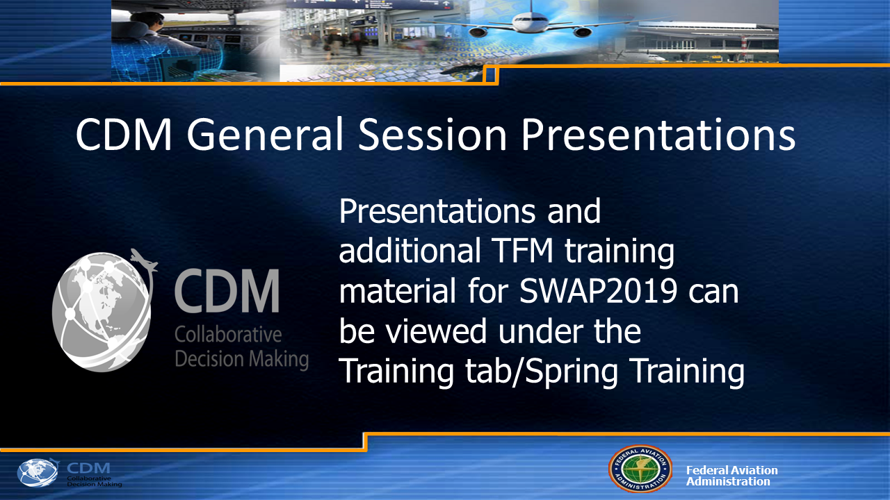 Post-CDM General Session Information
