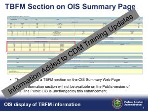 TBFM on OIS Information