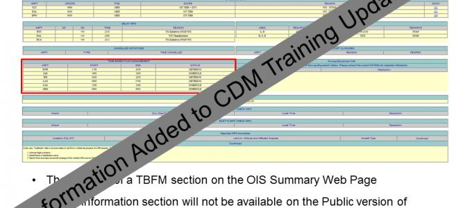 TBFM Information on OIS